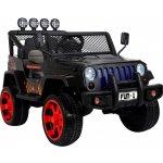 Ramiz Jeep Raptor 4x4 kožená sedačka 2 místné černé s plameny
