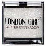 LONDON GIRL Flitrové oční stíny Mono Bílé GLITTER Eyeshadow 13 4,5 g