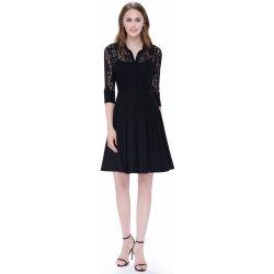 Krátké šaty koktejlky s rukávem černá 874d14496e