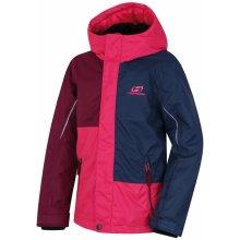 Hannah Dívčí zimní bunda Matheo modro-růžová