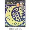 Pokojová dekorace svítící ve tmě víla s hvězdičkami 31x29cm 605, Anděl Přerov Anděl Přerov
