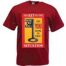 Tričko s potiskem KEY TO THE SITUATION