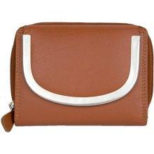 Oranžová kožená peněženka Kabana