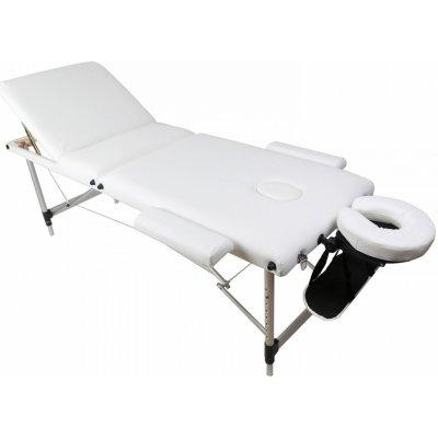 Movit M38423 přenosné masážní lehátko bílé 184 x 70 cm