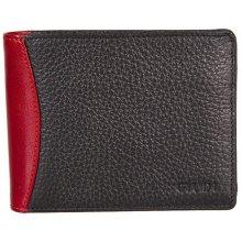 GIUDI pánská černočervená kožená peněženka 6190