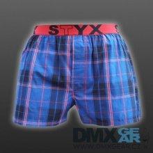 STYX UNDERWEAR pánské volné modré kostkované trenýrky Sport B533 9065b3324d
