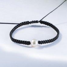 Klenota černý náramek s Akoya perlou kln5171