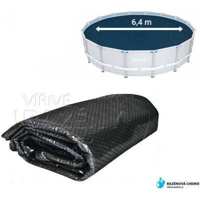 Flobal Solární plachta na bazén kruhová 6,4m černá