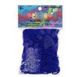 RAINBOW LOOM Original gumičky 600 kusov transparentná tmavá modrá