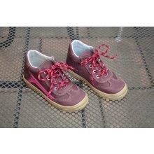 Jonap 033m dětská celoroční vycházková obuv vínová-růžová
