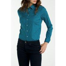 Gant dámská Košile GANT STRETCH BROADCLOTH DOT PRINT modrá