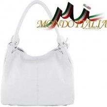 1adc55a4e9 Made In Italy kožená kabelka 1107 bílá