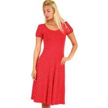 7c68b8a6de01 Puntíkované dámské retro šaty 328127 červená