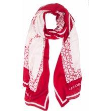 Calvin Klein červený šátek Geo Quilt Scarf Lipstick Red 9a0b52211e