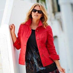 Blancheporte džínová bunda červená
