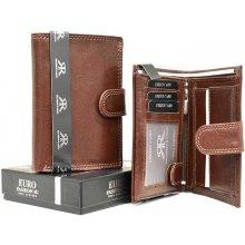 1a49ab22c1 Echt Leder Pánská luxusní peněženka hnědá pravá kůže premium