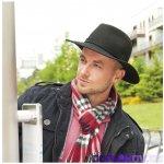 Karpet Pánský vlněný klobouk zdobený páskem černá 809590 d46b1e5903