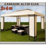 Zahradní kovový altán Elda 3x4