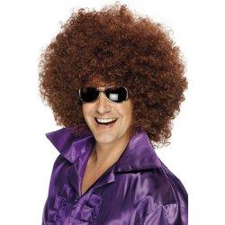 Pánská paruka mega afro hnědá mega huge karnevalový kostým ... 664d739739