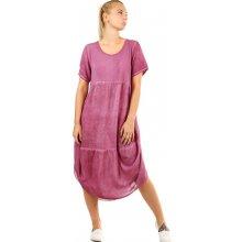 26b9d6ae04b YooY dámské letní plážové šaty fialová
