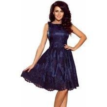 aa94bcdd1065 Společenské dámské šaty středně dlouhé krajkové tmavě modrá