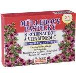 Müllerovy pastilky s echinaceou a vitamínem C 24 ks