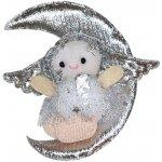 Wiky Dekorace vánoční - anděl stříbrný s měsícem
