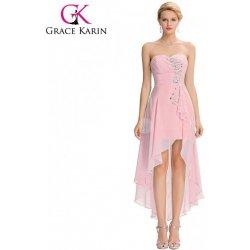 b8137da3e92 Grace Karin světle růžové společenské šaty s asymetrickou délkou GK000042-2  Růžová