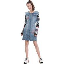 Desigual dámské šaty Vest Nancy 18WWVD01 5007 denim light wash 7638bd51bd