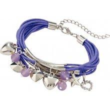 Blancheporte náramek s přívěsky fialová B767790