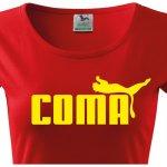 Dámské tričko s vtipným potiskem Coma Bezvatriko.cz 102001 Červená ebdcc84dad