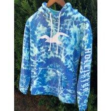 Hollister modrá mikina s kapucí