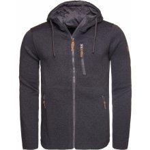 Pánský svetr s kapucí LOAP GODET OLM1724 ŠEDÁ