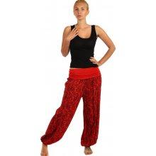 YooY Vzorované harémové kalhoty červená 59KY28 červená 5032d8d0e8