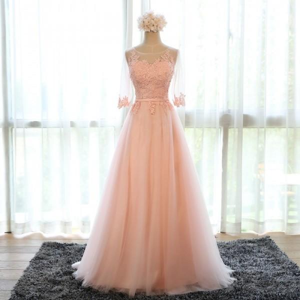 Plesové šaty Donna Bridal krásné dlouhé plesové šaty 2530-030 růžová ... 3247886e6a