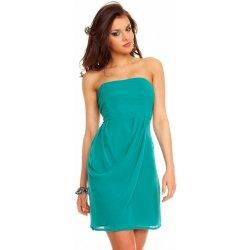2b7a9f186092 MAYAADI krátké korzetové společenské a plesové šaty se zadním zavazováním  254 zelená