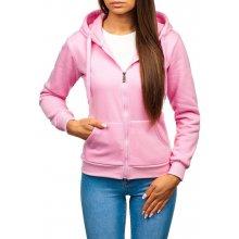 952eceb7adc8 Růžová dámská mikina s kapucí Bolf W03