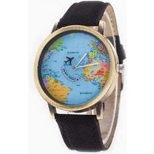 Altro s mapou světa černé