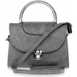 dámská kabelka kufřík s klopou aktovka na rameno šedá alternativy ... e5e43b08a9b