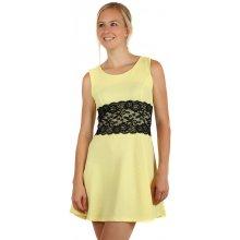 e3af65d67858 TopMode barevné šaty s krajkou a páskem pase žlutá