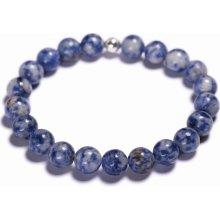 Lavaliere pánský korálkový náramek modrý jaspis 08101