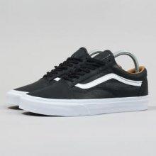 Vans Old Skool premium leather black / true white