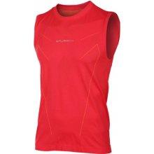 Brubeck Athletic Mens Tank Top SL10190 Dark Red funkční triko bez rukávů
