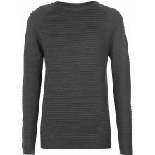 Firetrap Full Ripple Knit Jumper Mens Charcoal