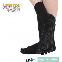 ToeToe ANKLE ABS nízké prstové ponožky černá