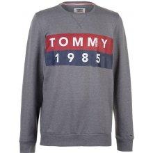 Tommy Hilfiger Pánská mikina Tommy Jeans 1985 Logo Šedá 7d30be803ac
