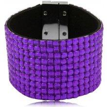Shine bižuterní třpytivý barevný náramek fialový TN020