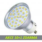 PremiumLED LED žárovka 3,2W 30xSMD2835 GU10 300lm studená bílá