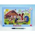 Dino Puzzle rámové Krteček na návštěvě 15 dílků
