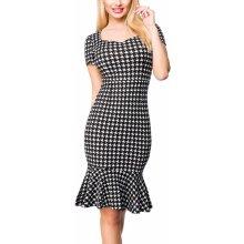 14713bafd0b6 Dámské business šaty s krátkými rukávy a volánem